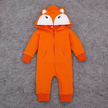 Brand Clothing Baby Cotton Newborn Baby Rompers Hooded Infant Overalls Spring Autumn Roupa Infantil Bebe Cartoon Romper