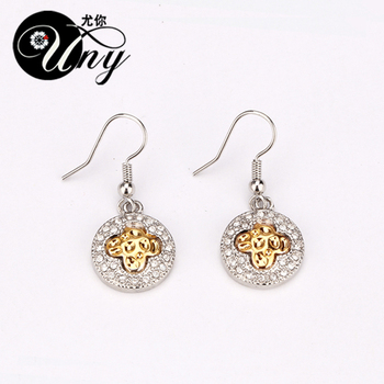 UNY Antik Dangle Küpe Zarif Benzersiz Dangle Küpe Chrams Küpe Vintage Trendy Küpe Charms ANti