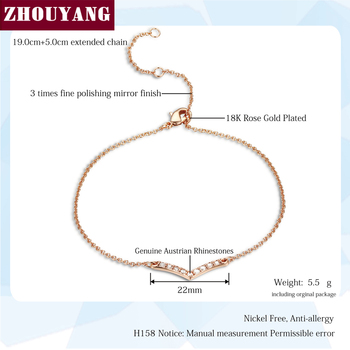 V Lover Hot Sell Elegant Rose Gold Color Bracelet Jewelry For Women Wedding Gift Wholesale Top Quality ZYH158 H156